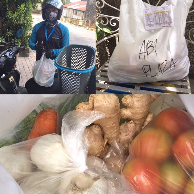 photo collage of vegetables being delivered through Angkas