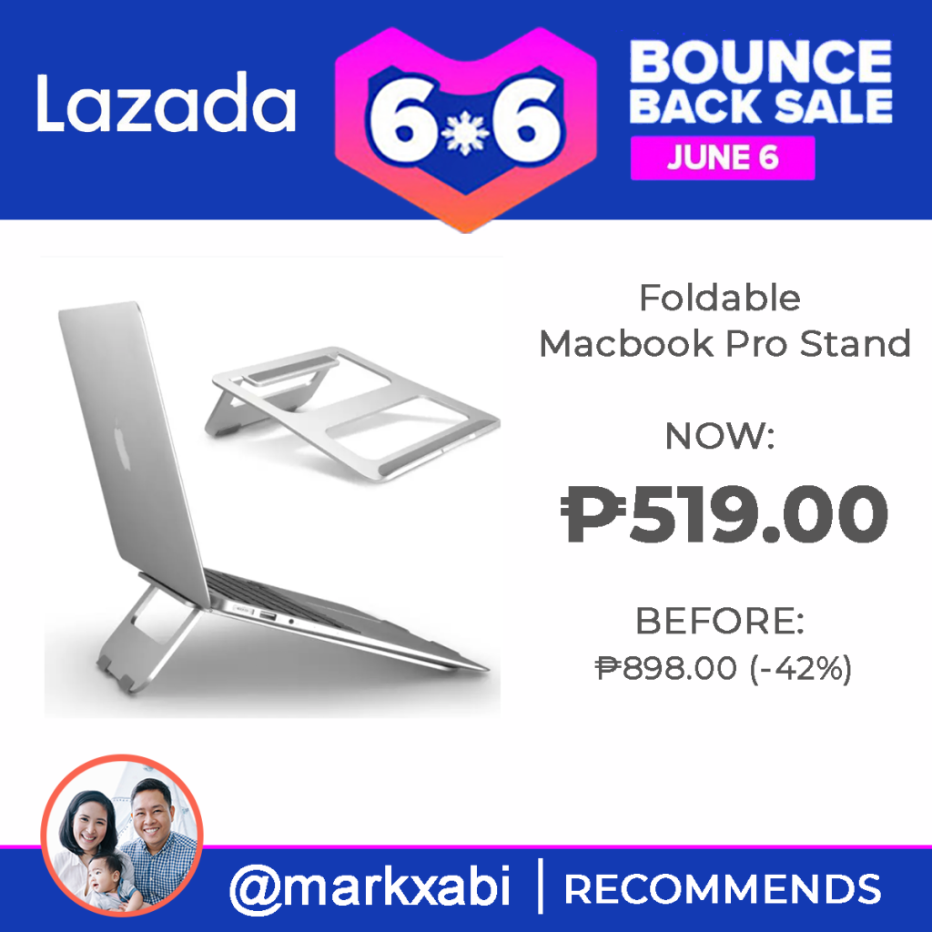 MacBook Pro Adjustable Stand at Lazada's 6.6. Bounce Back Sale