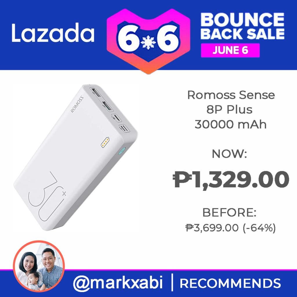 Romoss Powerbank at Lazada's 6.6. Bounce Back Sale