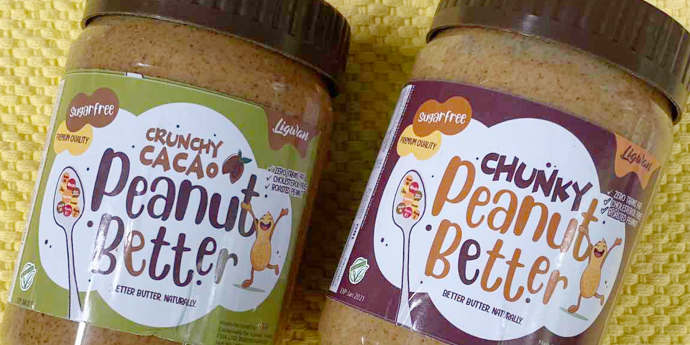 Ligwan Wild Honey's Peanut Better: Unsweeteed peanut butter variants