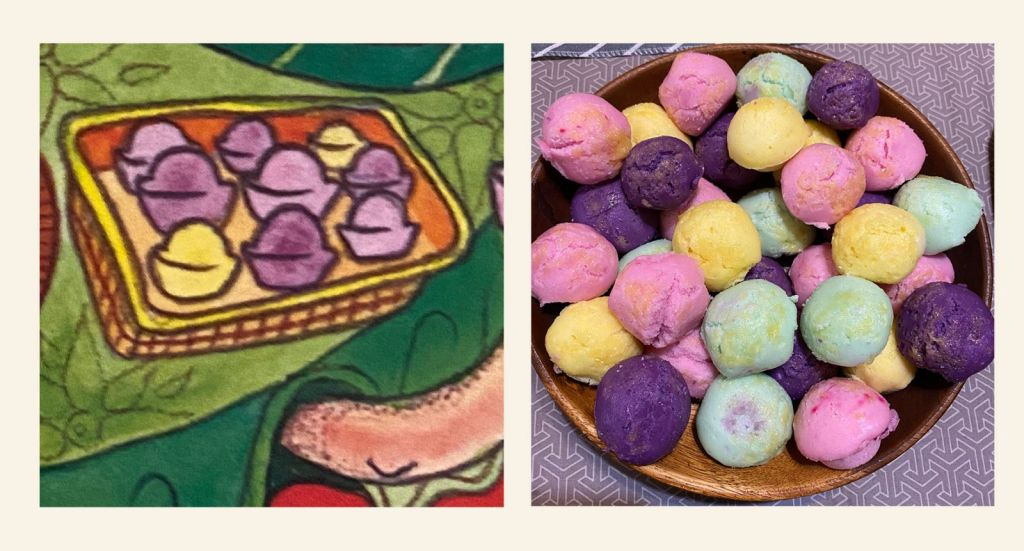 Pastel colored puto or rice cakes