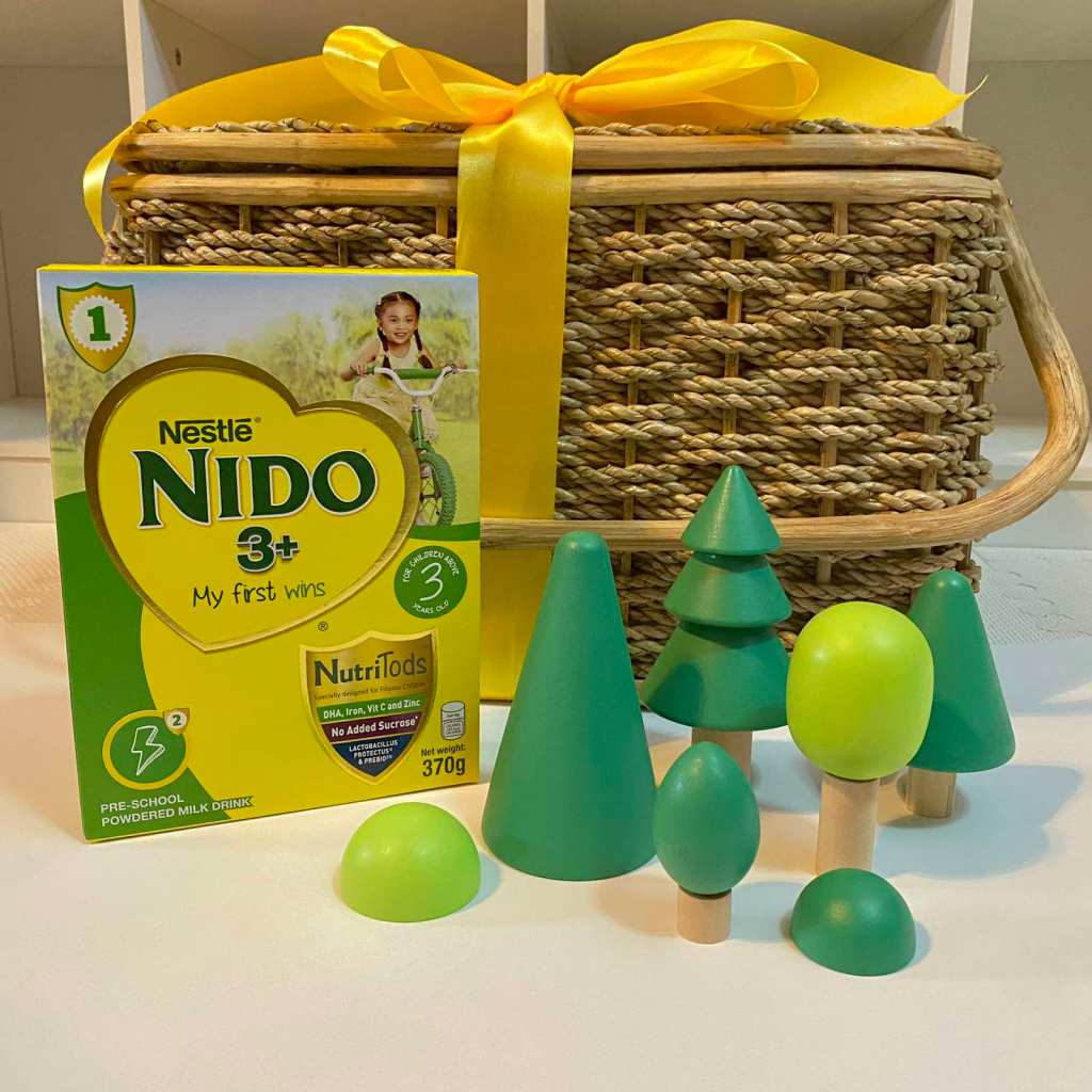Nido3+ box with toy trees and picnic basket
