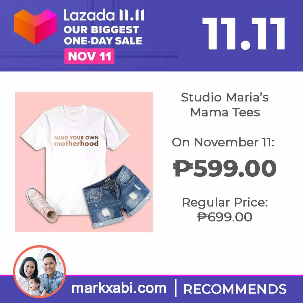 Mind your own motherhood shirt by studio maria on sale at Lazada's 11.11 Sale