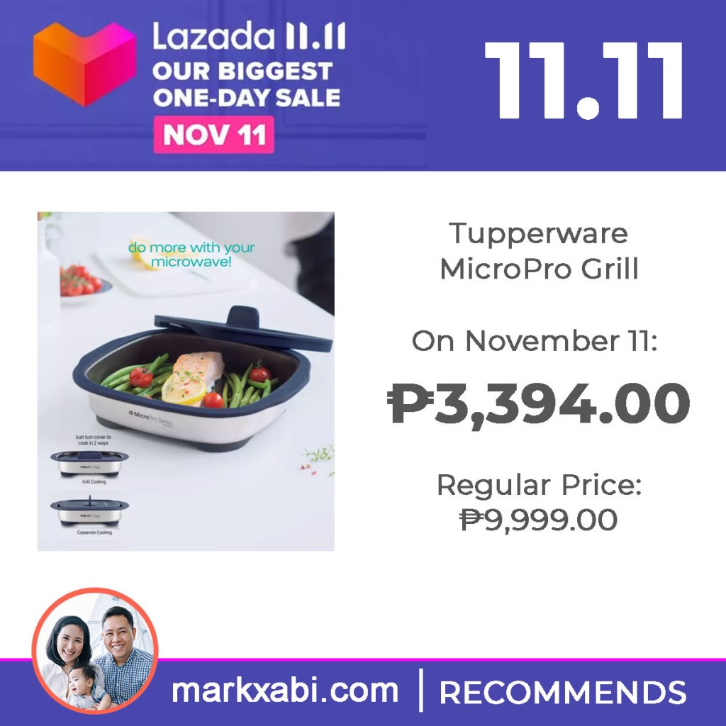 Tupperware MicroPro Grill on sale at Lazada's 11.11 Sale