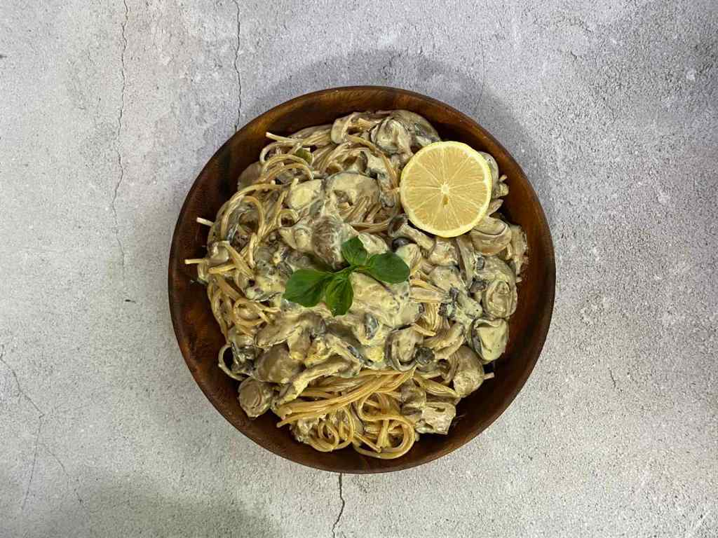 Homemade Lemon Mushroom Pasta