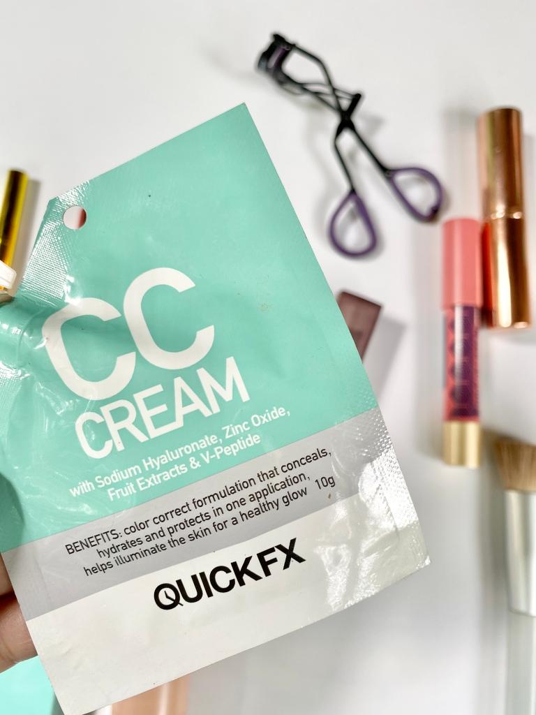 Quick FX CC Cream in sachet.
