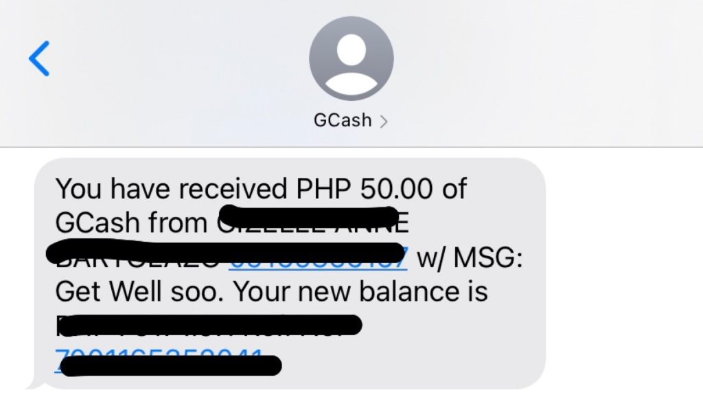 GCash notification
