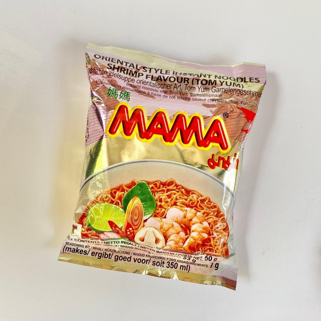 Mama Instant Tom yum shrimp flavor noodles